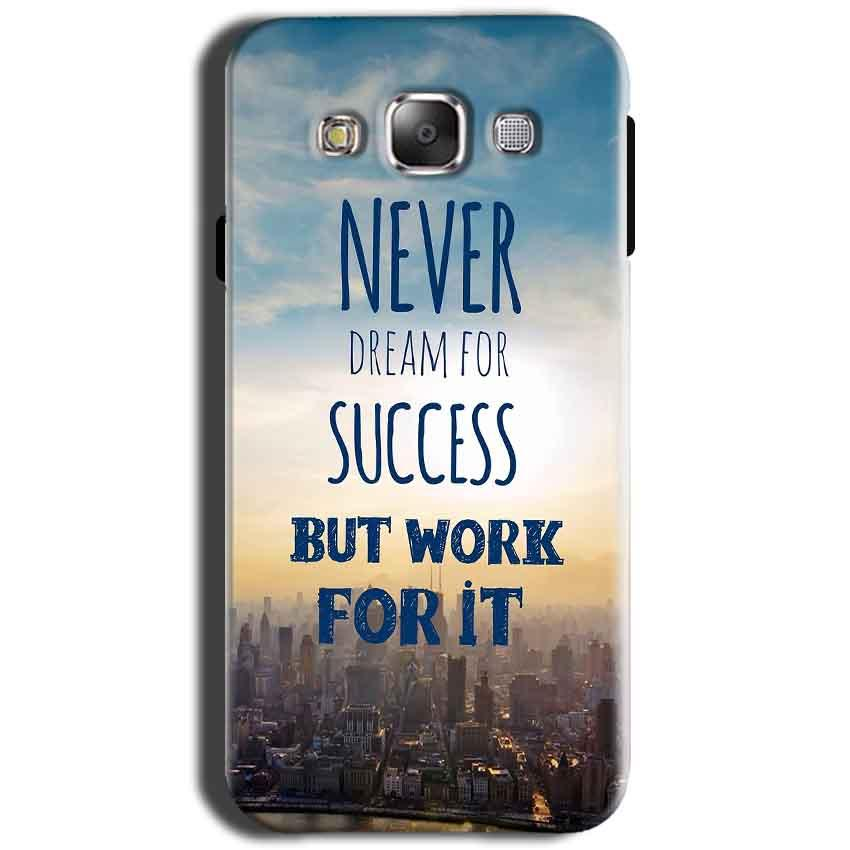 Samsung Galaxy Grand I9082 i9080 Mobile Covers Cases Never Dreams For Success But Work For It Quote - Lowest Price - Paybydaddy.com