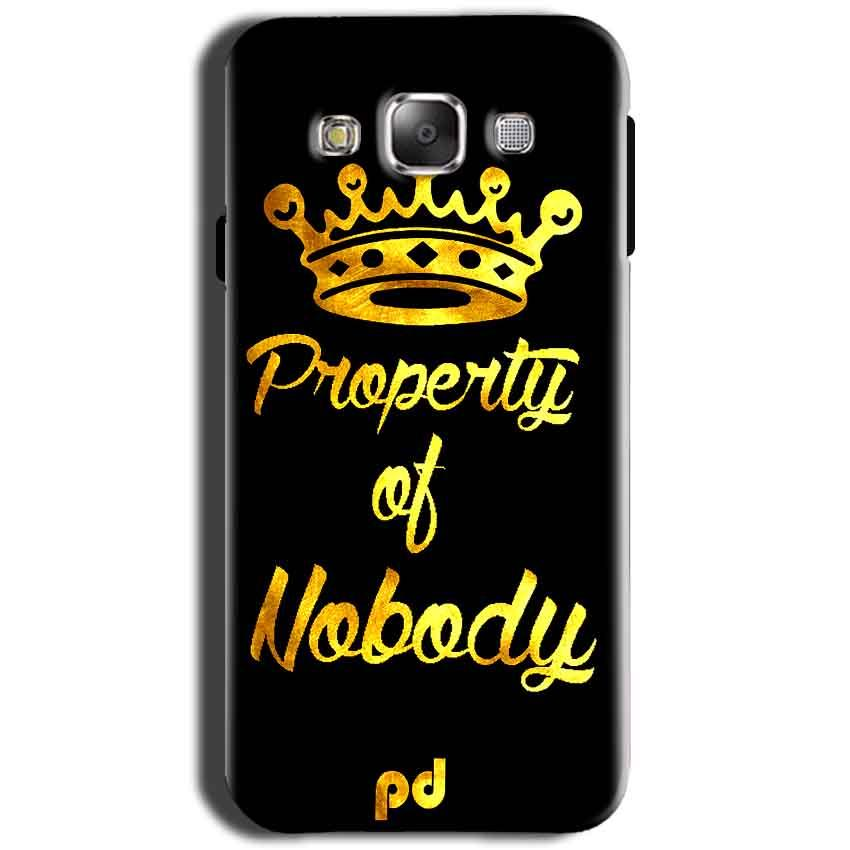 Samsung Galaxy Grand I9082 i9080 Mobile Covers Cases Property of nobody with Crown - Lowest Price - Paybydaddy.com