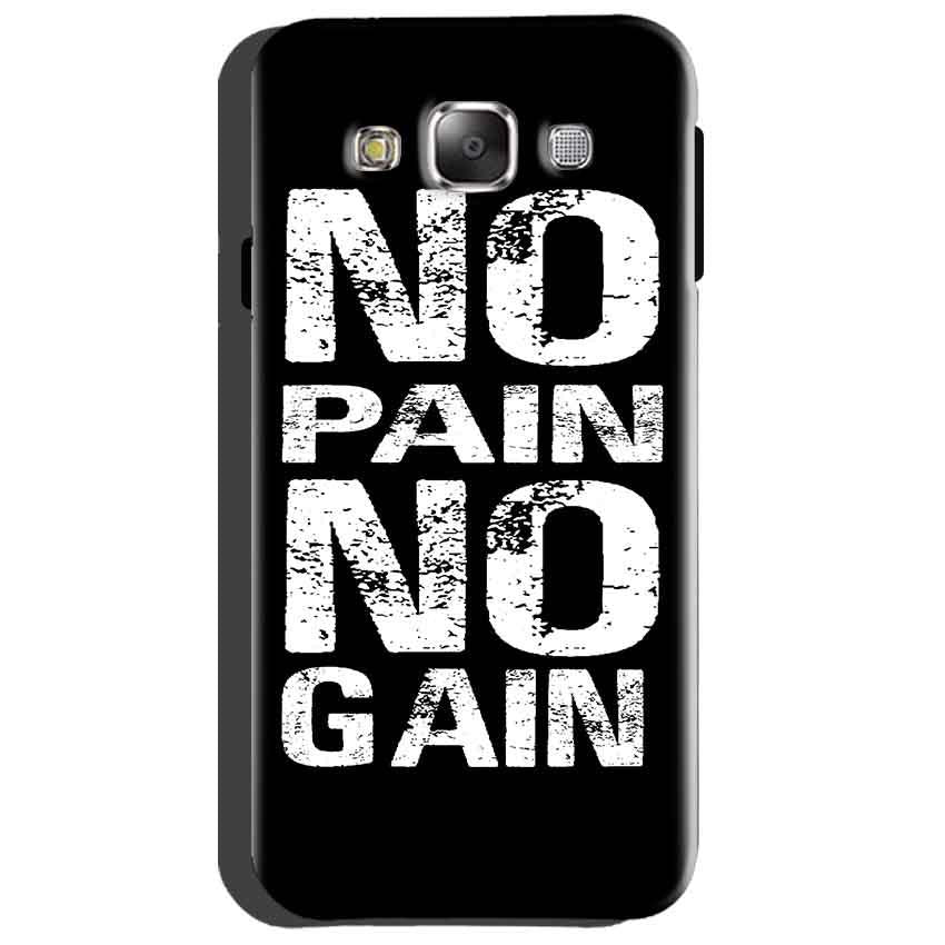 Samsung Galaxy Grand Quattro i8552 Mobile Covers Cases No Pain No Gain Black And White - Lowest Price - Paybydaddy.com