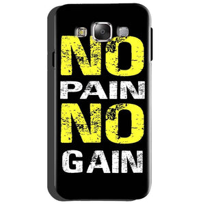 Samsung Galaxy Grand Quattro i8552 Mobile Covers Cases No Pain No Gain Yellow Black - Lowest Price - Paybydaddy.com