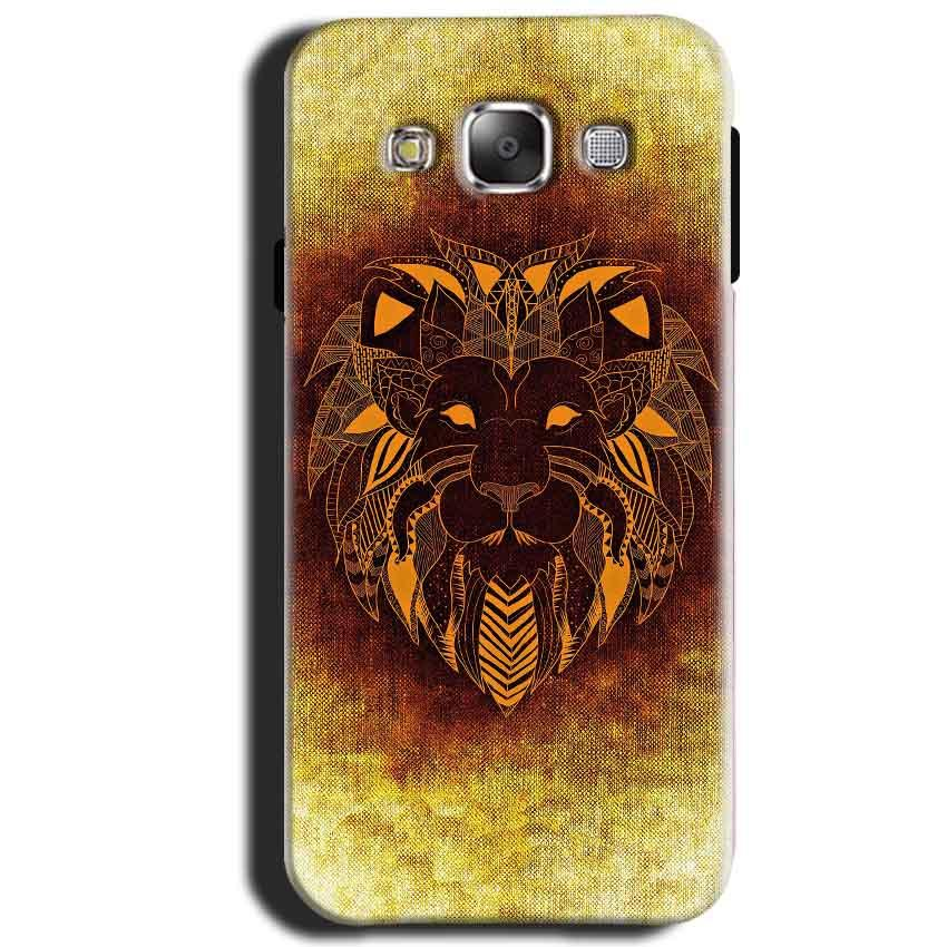 Samsung Galaxy J1 2015 Mobile Covers Cases Lion face art - Lowest Price - Paybydaddy.com