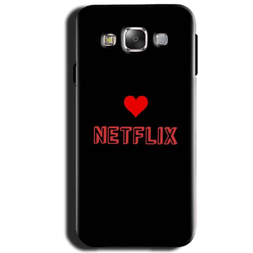 Samsung Galaxy J1 2015 Mobile Covers Cases NETFLIX WITH HEART - Lowest Price - Paybydaddy.com