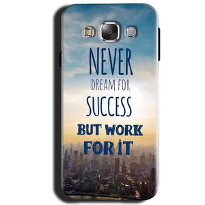 Samsung Galaxy J1 2015 Mobile Covers Cases Never Dreams For Success But Work For It Quote - Lowest Price - Paybydaddy.com