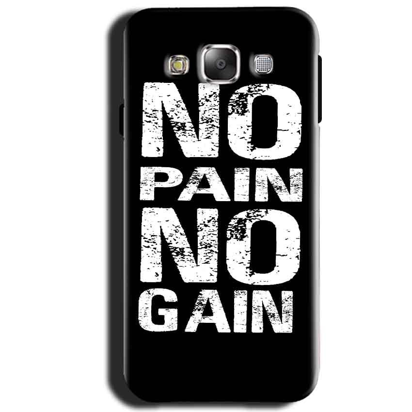 Samsung Galaxy J1 2015 Mobile Covers Cases No Pain No Gain Black And White - Lowest Price - Paybydaddy.com