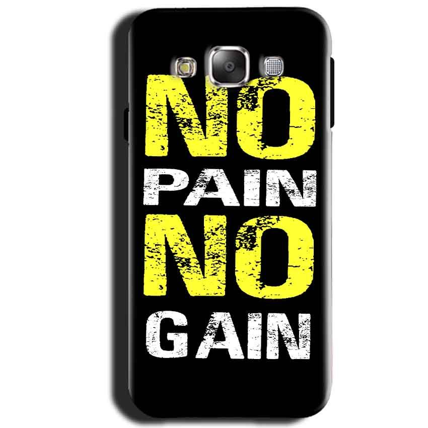 Samsung Galaxy J1 2015 Mobile Covers Cases No Pain No Gain Yellow Black - Lowest Price - Paybydaddy.com