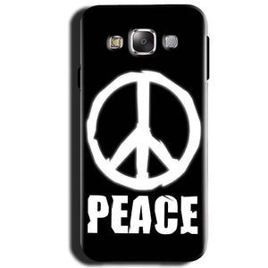 Samsung Galaxy J1 2015 Mobile Covers Cases Peace Sign In White - Lowest Price - Paybydaddy.com