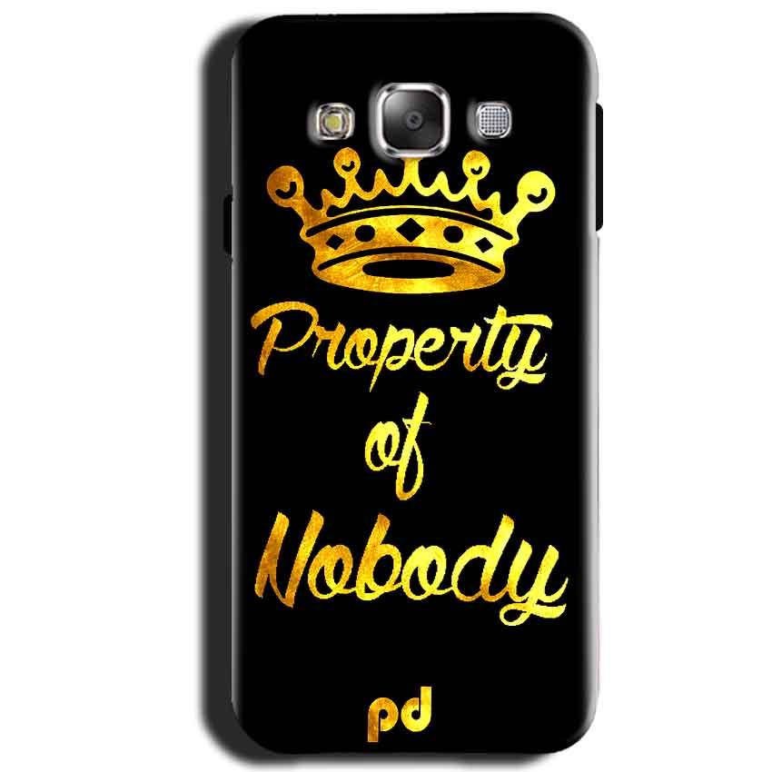 Samsung Galaxy J1 2015 Mobile Covers Cases Property of nobody with Crown - Lowest Price - Paybydaddy.com