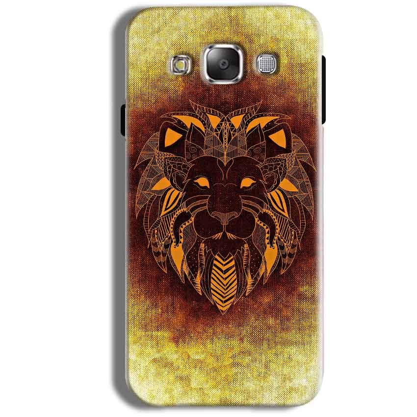 Samsung Galaxy J1 Ace Mobile Covers Cases Lion face art - Lowest Price - Paybydaddy.com