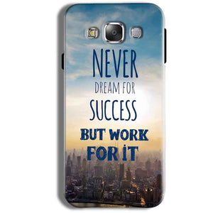 Samsung Galaxy J1 Ace Mobile Covers Cases Never Dreams For Success But Work For It Quote - Lowest Price - Paybydaddy.com