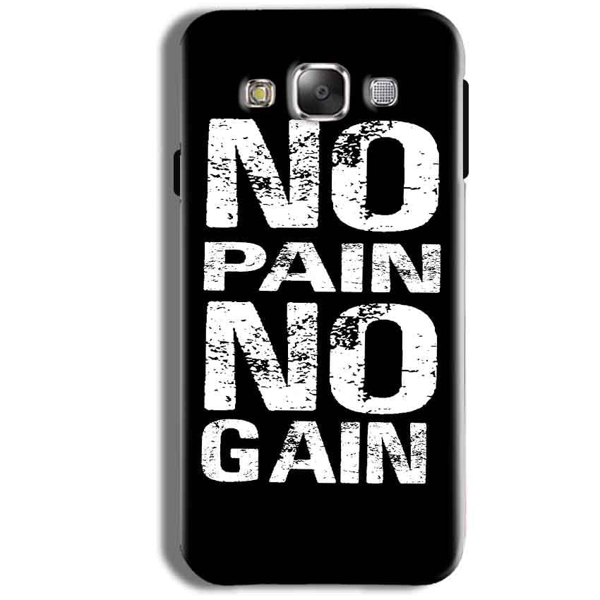 Samsung Galaxy J1 Ace Mobile Covers Cases No Pain No Gain Black And White - Lowest Price - Paybydaddy.com