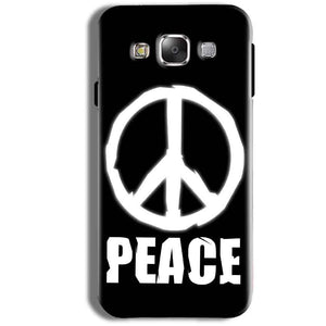 Samsung Galaxy J1 Ace Mobile Covers Cases Peace Sign In White - Lowest Price - Paybydaddy.com