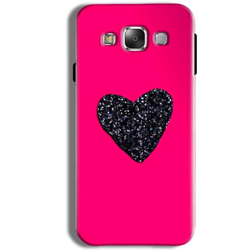 Samsung Galaxy J1 Ace Mobile Covers Cases Pink Glitter Heart - Lowest Price - Paybydaddy.com
