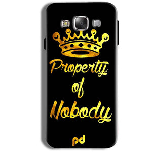 Samsung Galaxy J1 Ace Mobile Covers Cases Property of nobody with Crown - Lowest Price - Paybydaddy.com