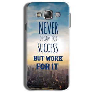 Samsung Galaxy J2 Ace Mobile Covers Cases Never Dreams For Success But Work For It Quote - Lowest Price - Paybydaddy.com