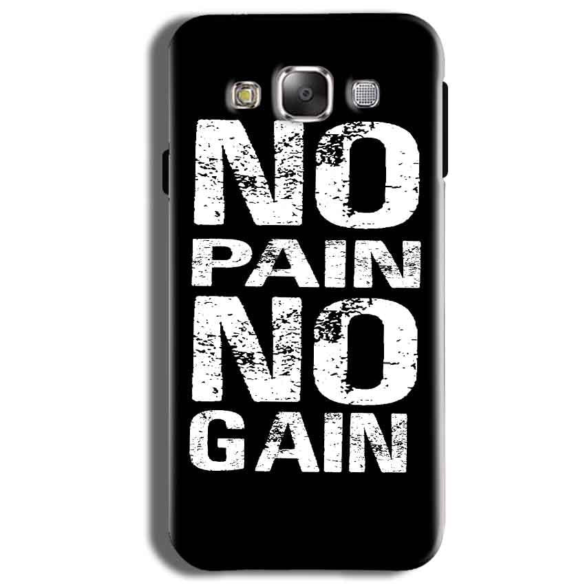 Samsung Galaxy J2 Ace Mobile Covers Cases No Pain No Gain Black And White - Lowest Price - Paybydaddy.com