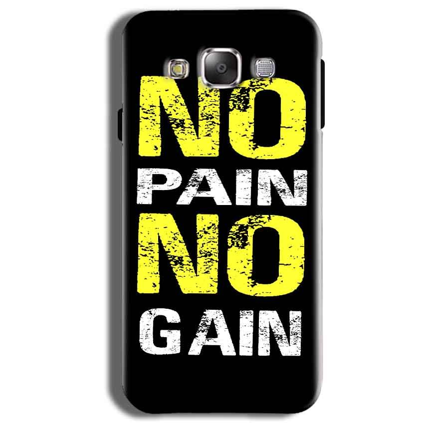 Samsung Galaxy J2 Ace Mobile Covers Cases No Pain No Gain Yellow Black - Lowest Price - Paybydaddy.com
