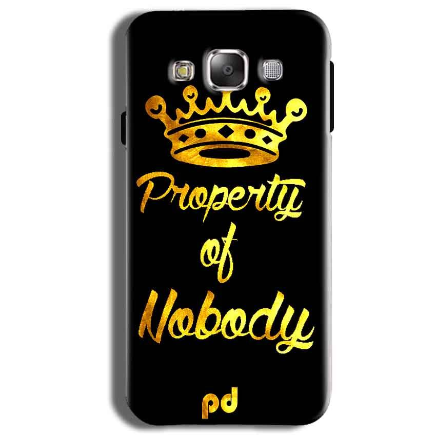 Samsung Galaxy J2 Ace Mobile Covers Cases Property of nobody with Crown - Lowest Price - Paybydaddy.com