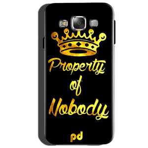 Samsung Galaxy J2 Prime Mobile Covers Cases Property of nobody with Crown - Lowest Price - Paybydaddy.com