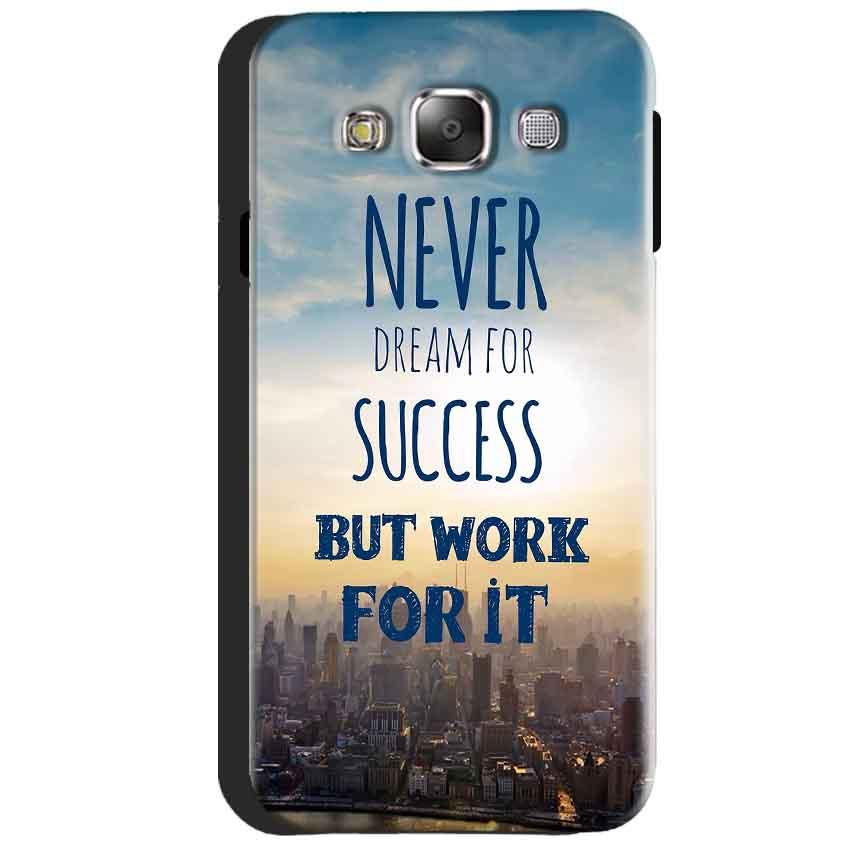 Samsung Galaxy J3 2016 Mobile Covers Cases Never Dreams For Success But Work For It Quote - Lowest Price - Paybydaddy.com