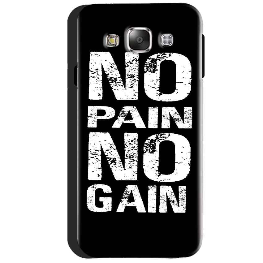 Samsung Galaxy J3 2016 Mobile Covers Cases No Pain No Gain Black And White - Lowest Price - Paybydaddy.com