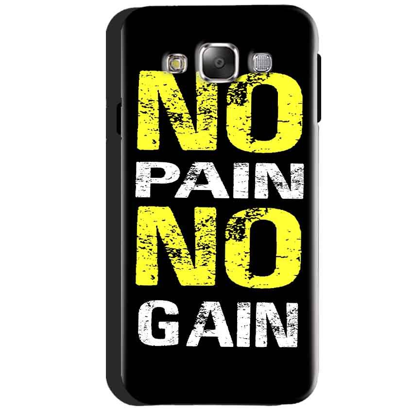 Samsung Galaxy J3 2016 Mobile Covers Cases No Pain No Gain Yellow Black - Lowest Price - Paybydaddy.com
