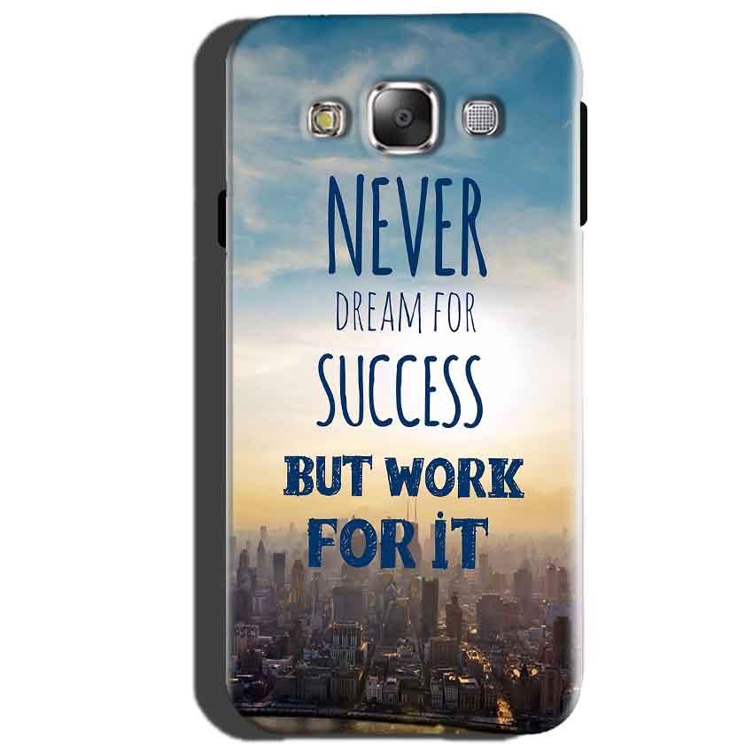 Samsung Galaxy J3 Mobile Covers Cases Never Dreams For Success But Work For It Quote - Lowest Price - Paybydaddy.com