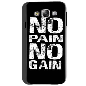 Samsung Galaxy J3 Mobile Covers Cases No Pain No Gain Black And White - Lowest Price - Paybydaddy.com