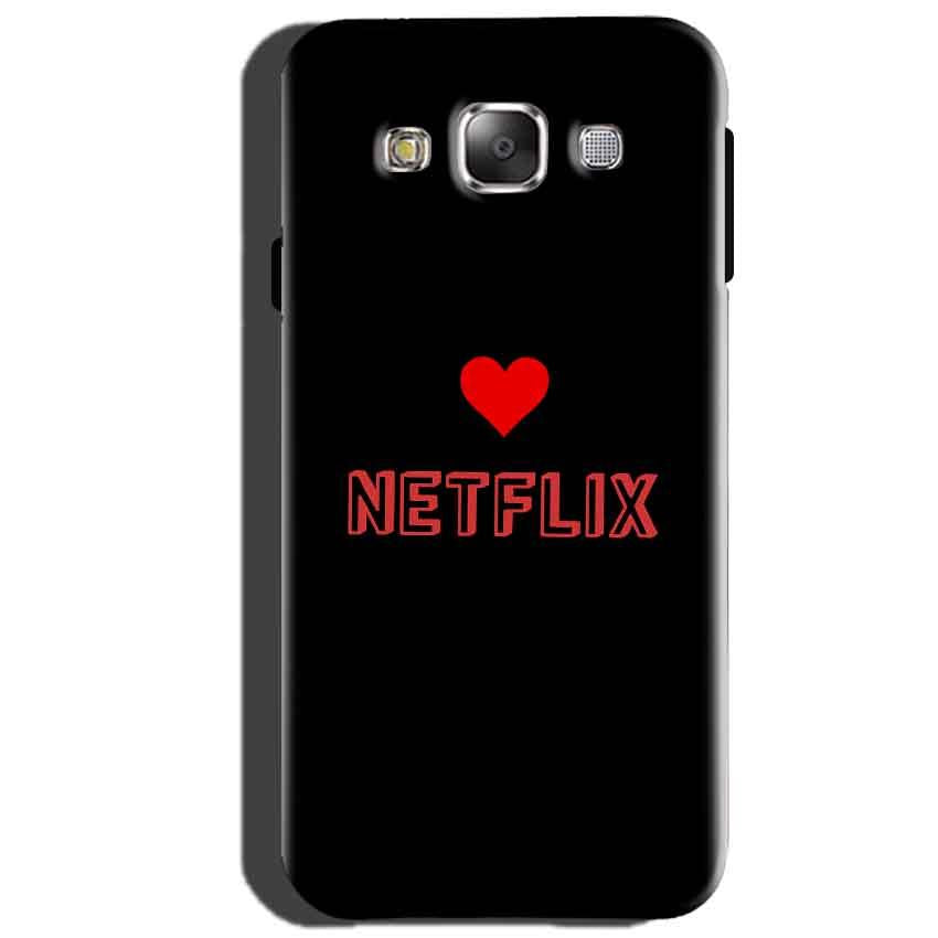 Samsung Galaxy J5 2015 Mobile Covers Cases NETFLIX WITH HEART - Lowest Price - Paybydaddy.com