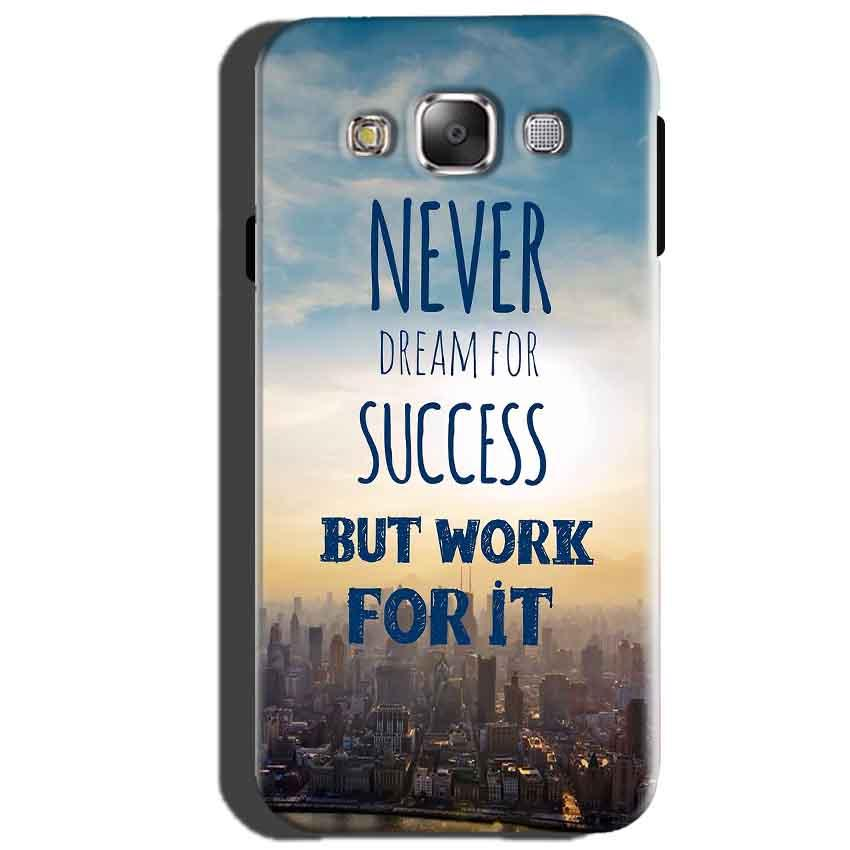 Samsung Galaxy J5 2015 Mobile Covers Cases Never Dreams For Success But Work For It Quote - Lowest Price - Paybydaddy.com
