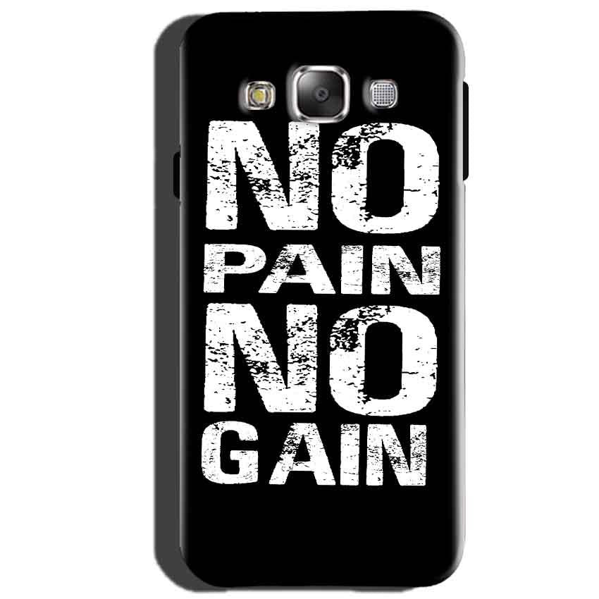 Samsung Galaxy J5 2015 Mobile Covers Cases No Pain No Gain Black And White - Lowest Price - Paybydaddy.com