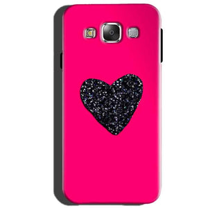 Samsung Galaxy J5 2015 Mobile Covers Cases Pink Glitter Heart - Lowest Price - Paybydaddy.com