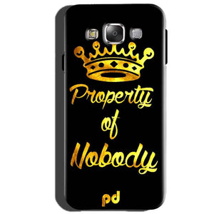Samsung Galaxy J5 2015 Mobile Covers Cases Property of nobody with Crown - Lowest Price - Paybydaddy.com