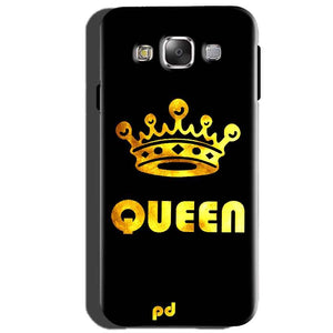 Samsung Galaxy J5 2015 Mobile Covers Cases Queen With Crown in gold - Lowest Price - Paybydaddy.com