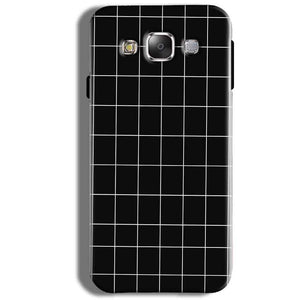 Samsung Galaxy J5 2016 Mobile Covers Cases Black with White Checks - Lowest Price - Paybydaddy.com