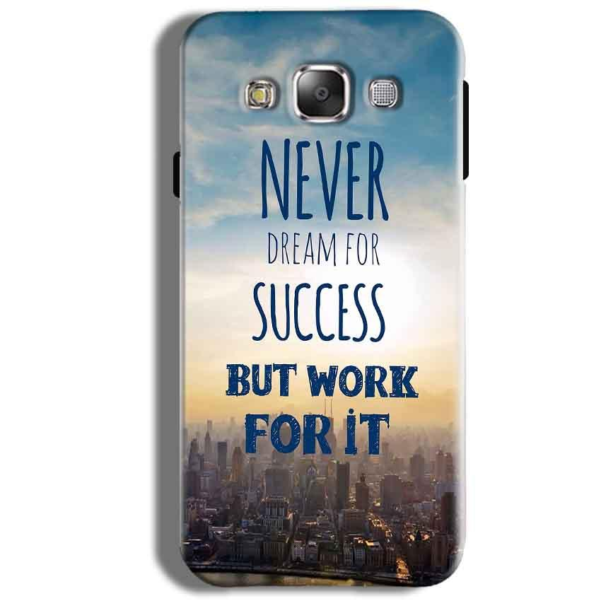 Samsung Galaxy J5 2016 Mobile Covers Cases Never Dreams For Success But Work For It Quote - Lowest Price - Paybydaddy.com