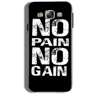Samsung Galaxy J5 2016 Mobile Covers Cases No Pain No Gain Black And White - Lowest Price - Paybydaddy.com