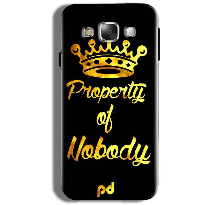 Samsung Galaxy J5 2016 Mobile Covers Cases Property of nobody with Crown - Lowest Price - Paybydaddy.com