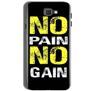 Samsung Galaxy J5 Prime Mobile Covers Cases No Pain No Gain Yellow Black - Lowest Price - Paybydaddy.com