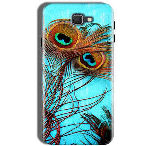 Samsung Galaxy J5 Prime Mobile Covers Cases Peacock blue wings - Lowest Price - Paybydaddy.com