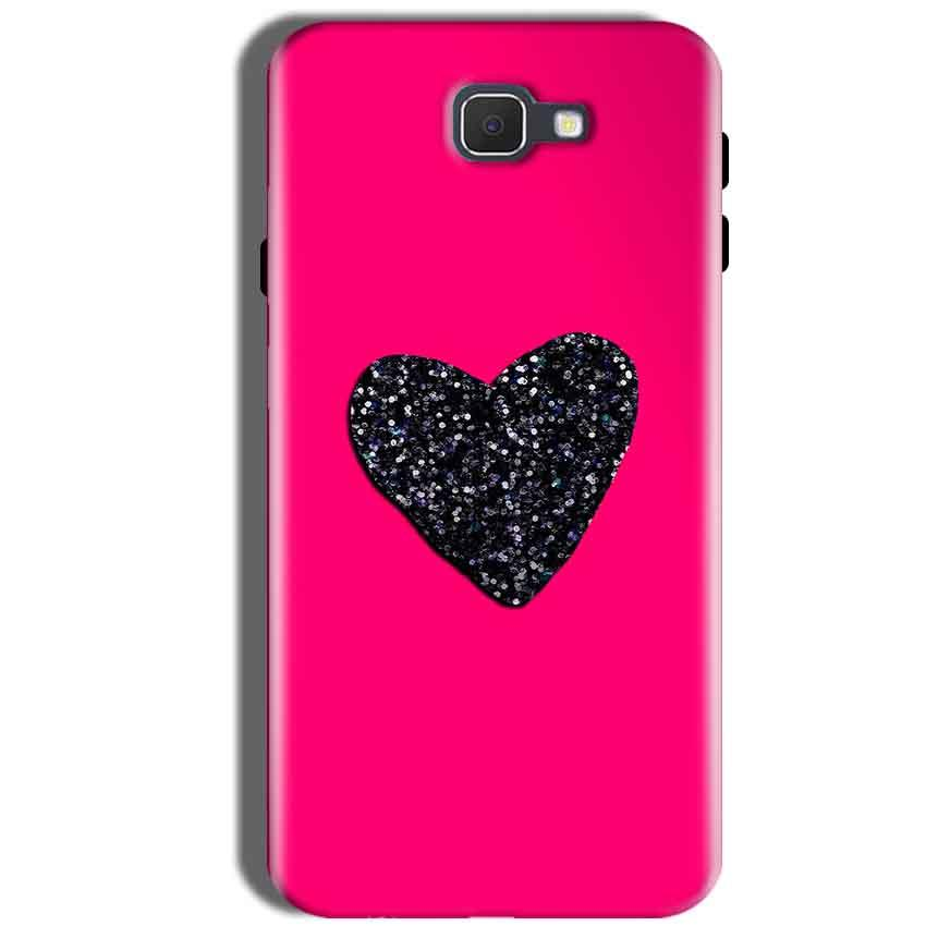 Samsung Galaxy J5 Prime Mobile Covers Cases Pink Glitter Heart - Lowest Price - Paybydaddy.com