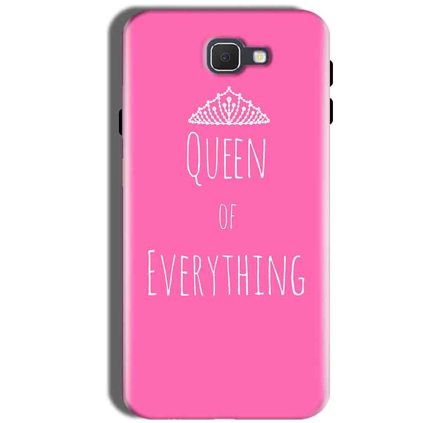 Samsung Galaxy J5 Prime Mobile Covers Cases Queen Of Everything Pink White - Lowest Price - Paybydaddy.com