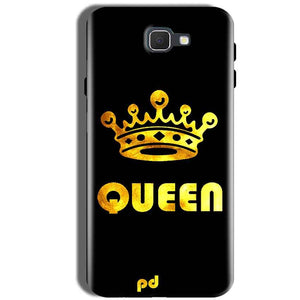 Samsung Galaxy J5 Prime Mobile Covers Cases Queen With Crown in gold - Lowest Price - Paybydaddy.com