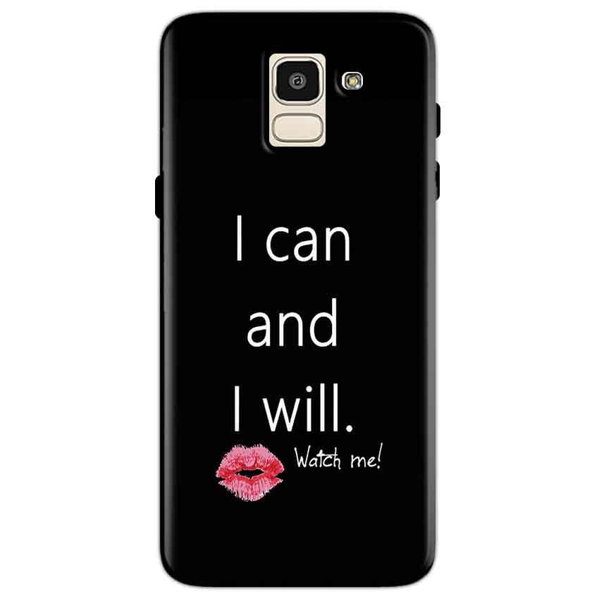 Samsung Galaxy J6 Mobile Covers Cases i can and i will Lips - Lowest Price - Paybydaddy.com