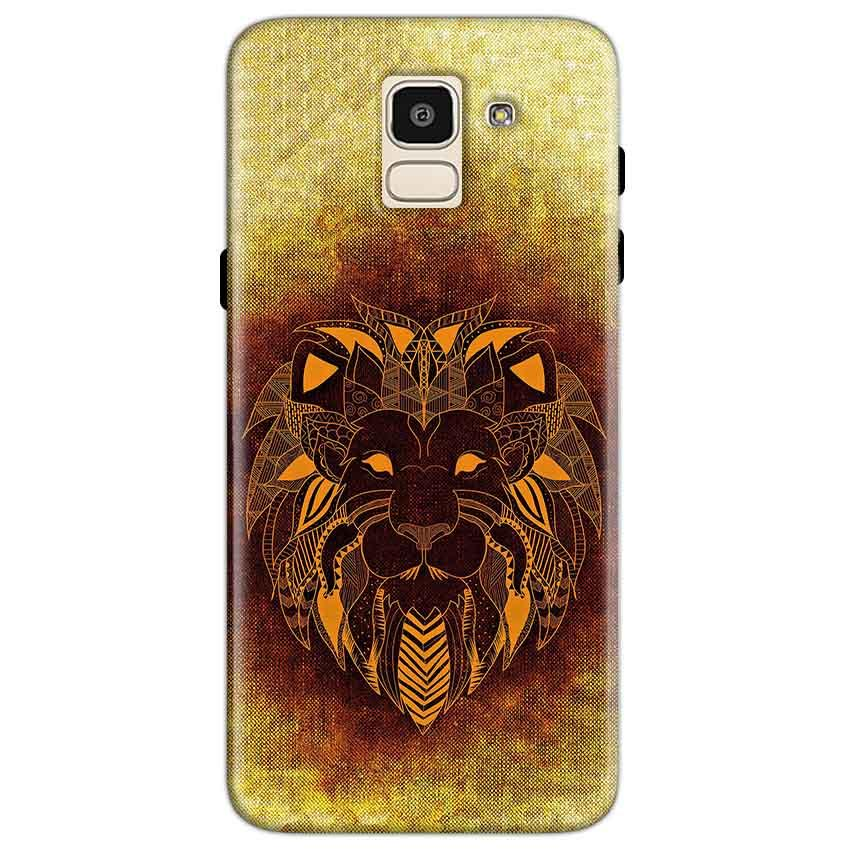 Samsung Galaxy J6 Mobile Covers Cases Lion face art - Lowest Price - Paybydaddy.com