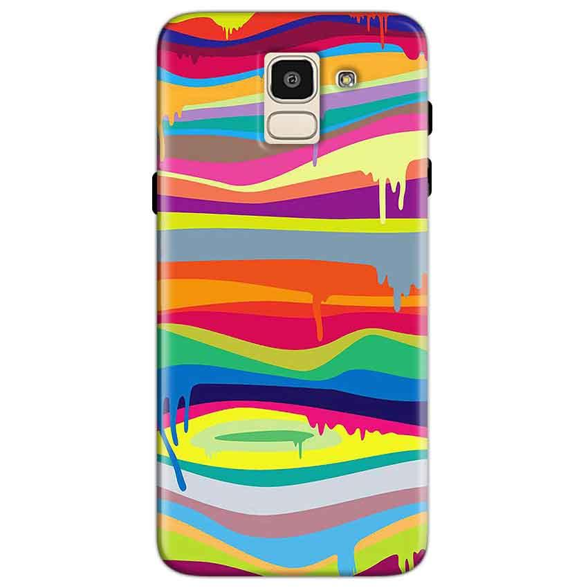 Samsung Galaxy J6 Mobile Covers Cases Melted colours - Lowest Price - Paybydaddy.com