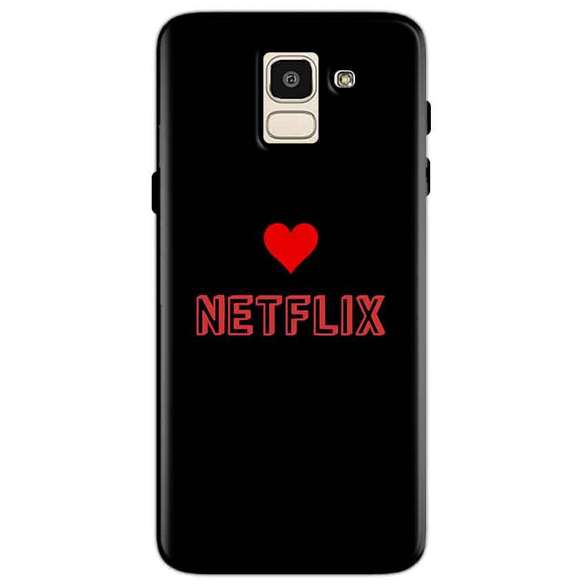 Samsung Galaxy J6 Mobile Covers Cases NETFLIX WITH HEART - Lowest Price - Paybydaddy.com