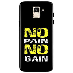 Samsung Galaxy J6 Mobile Covers Cases No Pain No Gain Yellow Black - Lowest Price - Paybydaddy.com