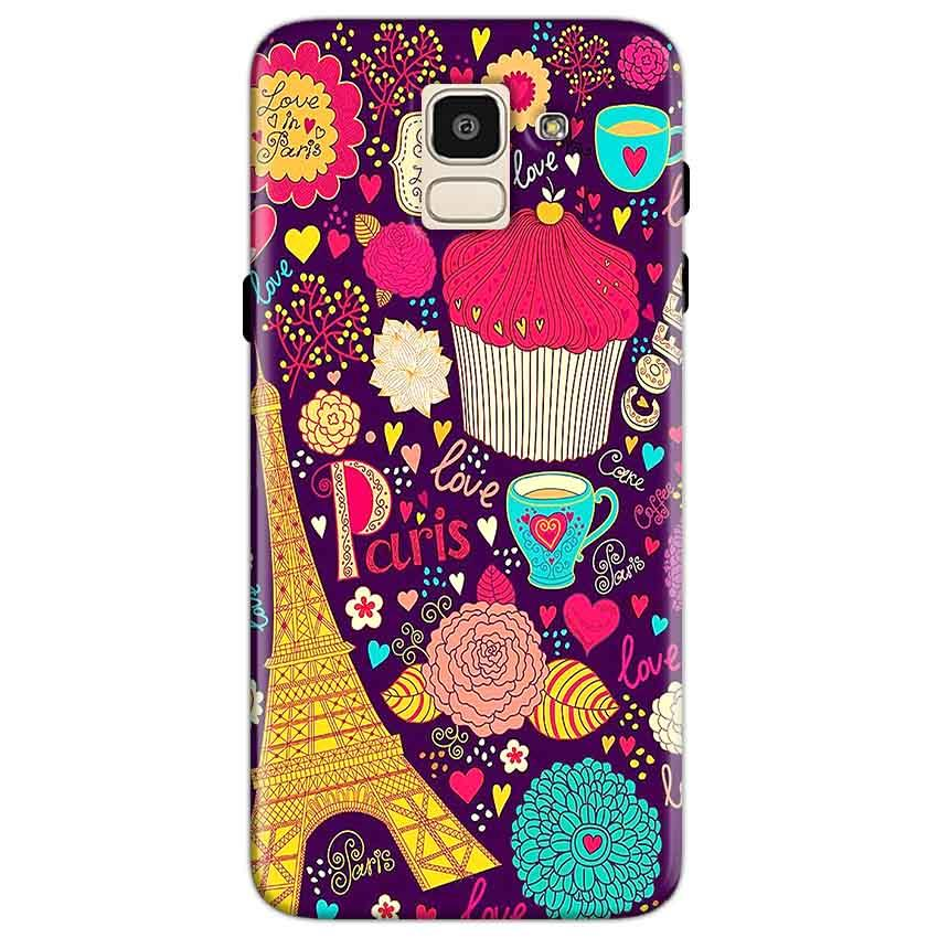 Samsung Galaxy J6 Mobile Covers Cases Paris Sweet love - Lowest Price - Paybydaddy.com