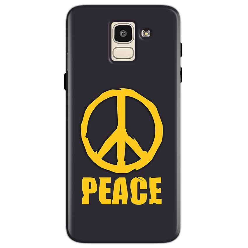 Samsung Galaxy J6 Mobile Covers Cases Peace Blue Yellow - Lowest Price - Paybydaddy.com