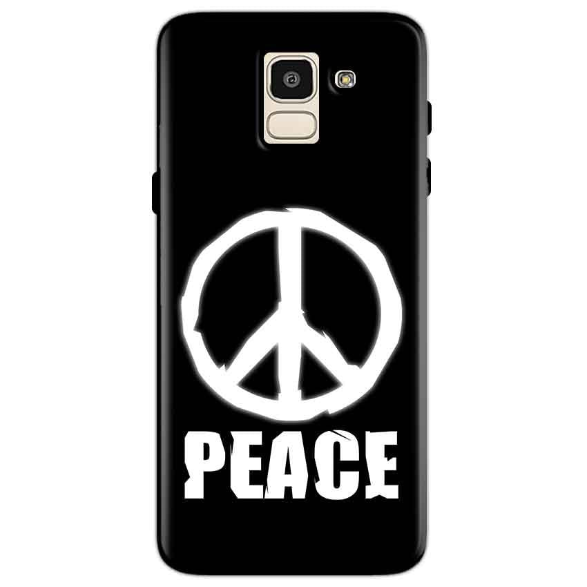 Samsung Galaxy J6 Mobile Covers Cases Peace Sign In White - Lowest Price - Paybydaddy.com